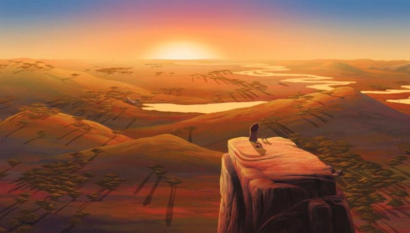 To get the right colour palette and landscape, the animators were sent to Africa. (Disney)