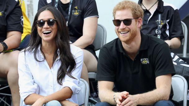 PHOTO: Meghan Markle and Prince Harry attend a Wheelchair Tennis match during the Invictus Games 2017 at Nathan Philips Square, Sept. 25, 2017 in Toronto. (Chris Jackson/Getty Images for the Invictus Games Foundation )