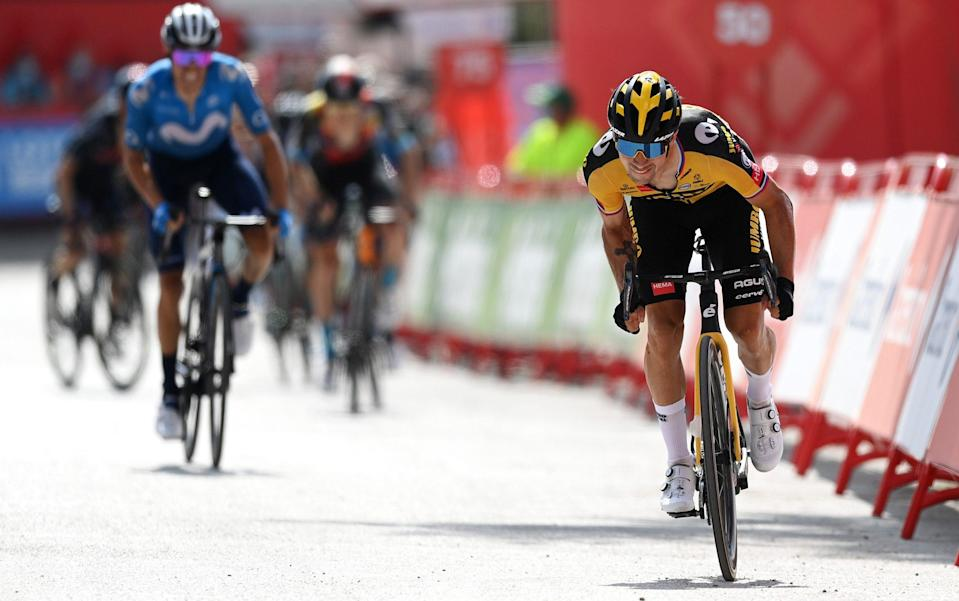 Primoz Roglic - Primoz Roglic breaks resolve of rivals to win stage as Odd Christian Eiking retains leader's red jersey at Vuelta a Espana - GETTY IMAGES