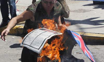 Argentinians Burn Sun In Row Over Falklands
