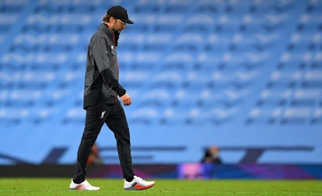 Jurgen Klopp's Liverpool were thrashed 4-0 by Manchester City (AFP Photo/LAURENCE GRIFFITHS)