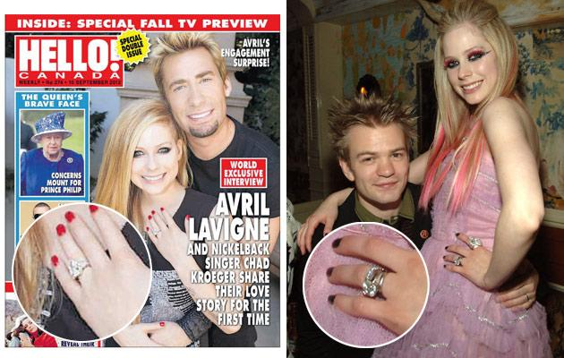 Avril Lavigneu0027s Engagement Rings: How Does Her New One Compare To Her Old  One?