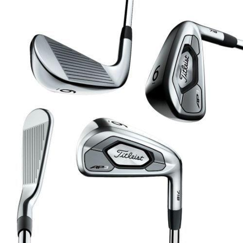 """<p><strong>Titleist</strong></p><p>golfdiscount.com</p><p><strong>$899.00</strong></p><p><a href=""""https://www.golfdiscount.com/titleist-718-ap3-irons"""" rel=""""nofollow noopener"""" target=""""_blank"""" data-ylk=""""slk:Shop Now"""" class=""""link rapid-noclick-resp"""">Shop Now</a></p><p>Our colleagues at <em>Men's Heath</em> said a few years back that <a href=""""https://www.menshealth.com/technology-gear/a22034213/best-golf-clubs-buy-right-now/"""" rel=""""nofollow noopener"""" target=""""_blank"""" data-ylk=""""slk:these irons"""" class=""""link rapid-noclick-resp"""">these irons</a> """"have it all,"""" and we still agree. The updated 718 AP3 irons from Titleist give golf-lovers plenty of distance, control, and consistency, and the black steel shaft is the bow on a nicely wrapped package. </p><p>Priced at about $899 for 4-PW, they're geared toward more serious golfers who find the AP2 irons too compact, and thus, too demanding. The AP3 are much more forgiving, thanks to a larger club face and sweet spot, but they don't feel bulky or oversized. </p>"""