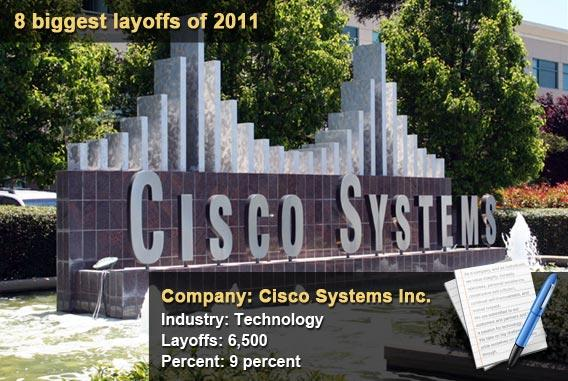 8 biggest layoffs of 2011 - Cisco Systems