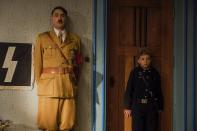 "This image released by Fox Searchlight Pictures shows Taika Waititi, left, and Roman Griffin Davis in a scene from ""Jojo Rabbit."" On Monday, Jan. 13, the film was nominated for an Oscar for best picture. (Fox Searchlight Pictures via AP)"