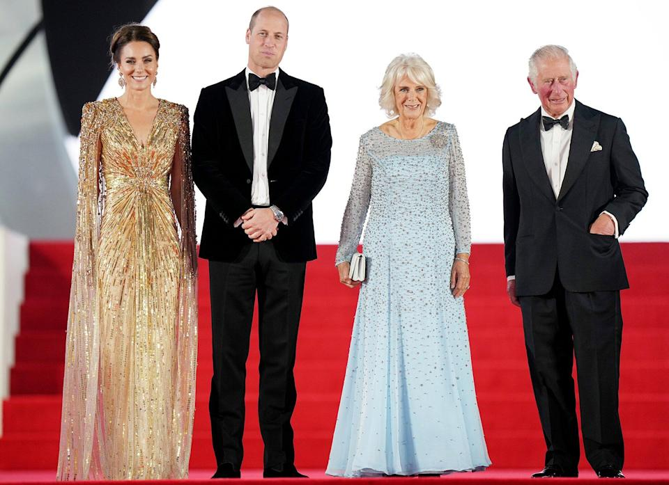Catherine Duchess of Cambridge and Prince William, Camilla Duchess of Cornwall and Prince Charles 'No Time To Die' World Premiere, Royal Albert Hall, London, UK - 28 Sep 2021
