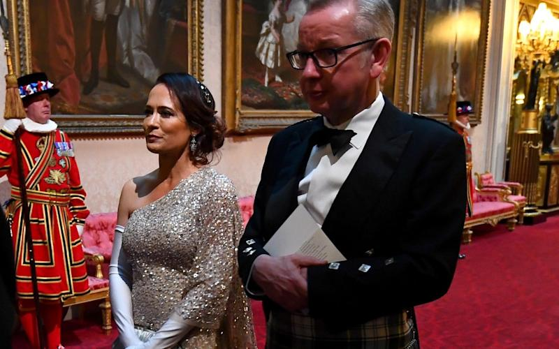 Stephanie Grisham with Michael Gove at the State Banquet - REUTERS