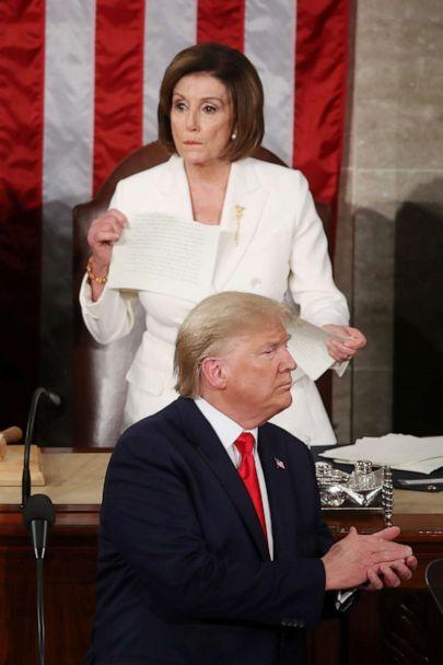 Image result for pelosi ripping trump speech gif""