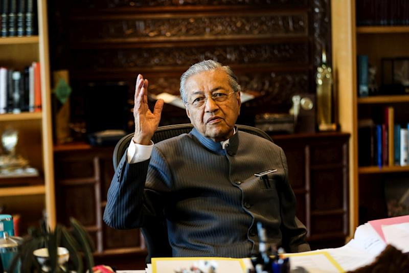 Prime Minister Tun Dr Mahathir Mohamad speaks during an exclusive interview with 'Malay Mail' at his office in the Perdana Leadership Foundation at Putrajaya June 21,2018. — Picture by Ahmad Zamzahuri