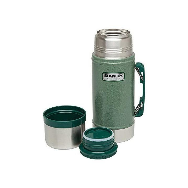 "Leakproof, packable, and insulated—it's the legendary thermos that really does do it all. $25, Amazon. <a href=""https://www.amazon.com/Stanley-Classic-Vacuum-Hammertone-Green/dp/B000FZX944/ref=sr_1_2_sspa"" rel=""nofollow noopener"" target=""_blank"" data-ylk=""slk:Get it now!"" class=""link rapid-noclick-resp"">Get it now!</a>"