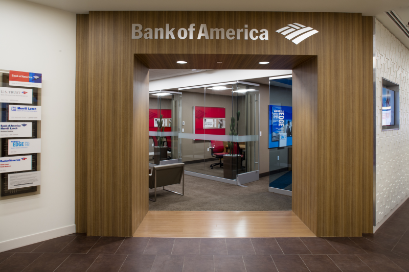 Entrance to a Bank of America conference room.