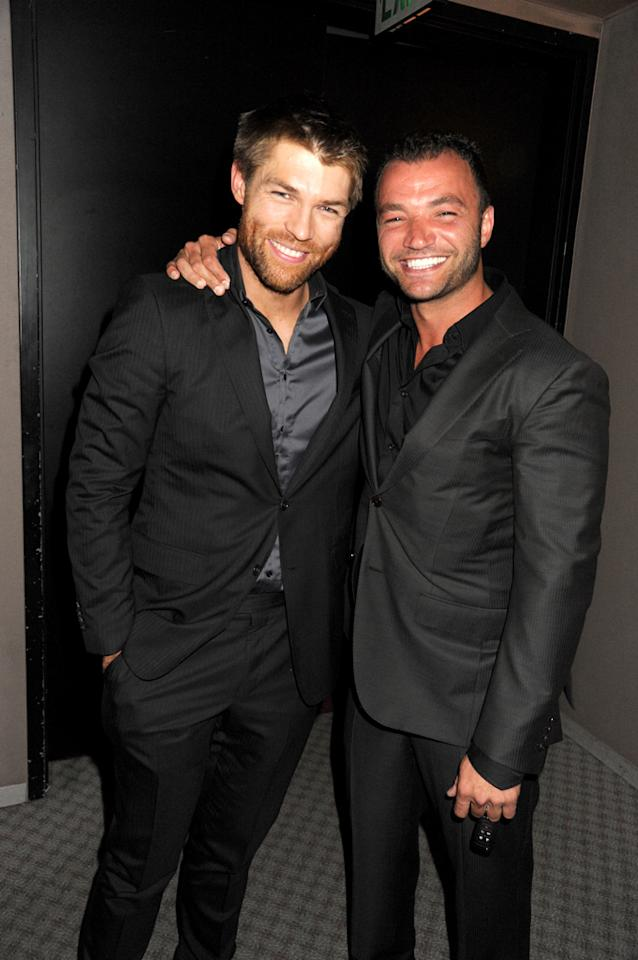 "Liam McIntyre and Nick Tarabay attend the Starz celebration of Kirk Douglas and the impact of ""Spartacus"" at Leonard H. Goldenson Theatre on May 31, 2012 in North Hollywood, California."