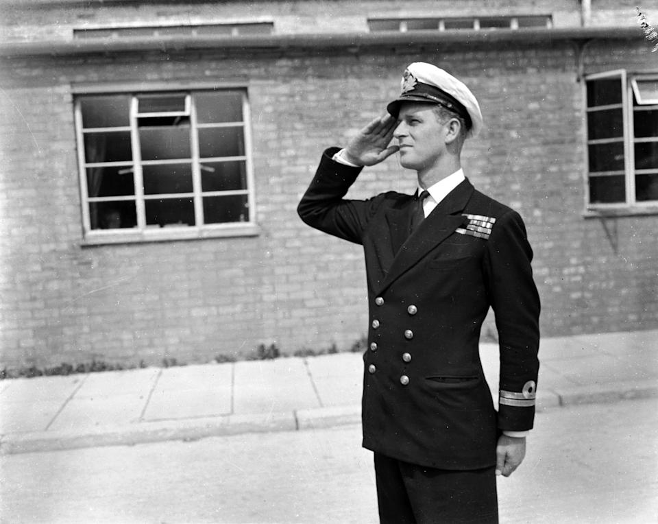Lieutenant Philip Mountbatten, husband of Princess Elizabeth resumes his attendance at the Royal Naval Officers' School at Kingsmoor in Hawthorn, Wiltshire.  (Photo by PNA Rota/Getty Images)