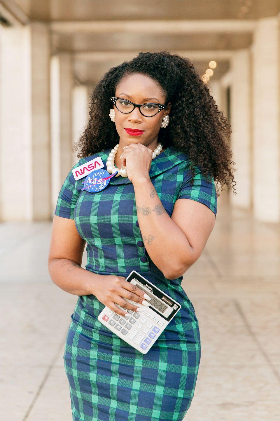 """<p>Have you seen <em>Hidden Figures</em>? Us too—it's a favorite, and it highlights what strong, powerful women are capable of. That's why we're loving this fun costume idea that emulates NASA mathematician Katherine Johnson. <br></p><p><a class=""""link rapid-noclick-resp"""" href=""""https://www.amazon.com/gp/product/B0722GZYT3?tag=syn-yahoo-20&ascsubtag=%5Bartid%7C10050.g.4571%5Bsrc%7Cyahoo-us"""" rel=""""nofollow noopener"""" target=""""_blank"""" data-ylk=""""slk:SHOP NASA PATCHES"""">SHOP NASA PATCHES</a> </p>"""