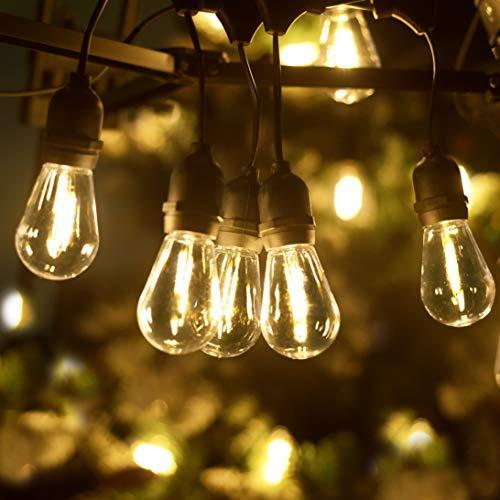 LED Outdoor String Lights, LUKASUMI 26 Ft Patio Lights with 8+(1) Super Energy-Saving Waterproo…