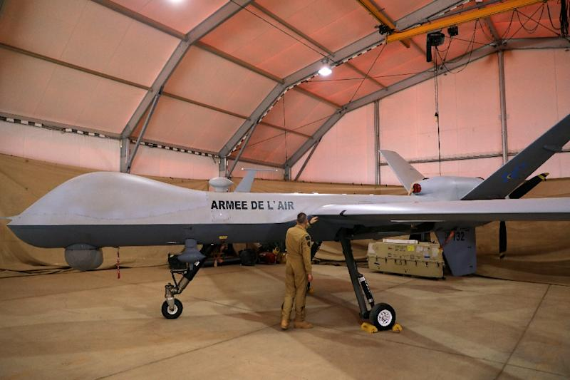 """Countries should quickly agree a treaty banning the use of so-called killer robots """"before it is too late"""", activists said, such as this Reaper drone aircraft"""