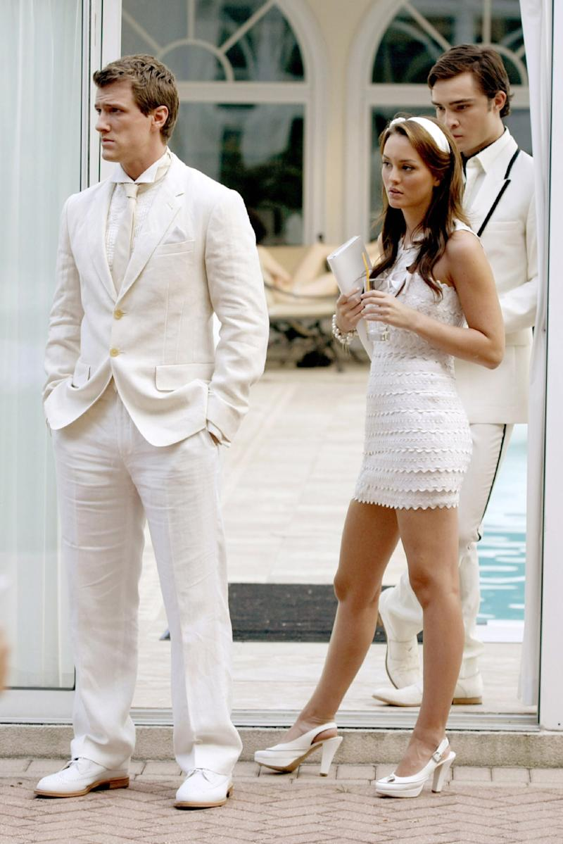 Blair Waldorf wearing Marc Jacobs, All-White Party in the Hamptons