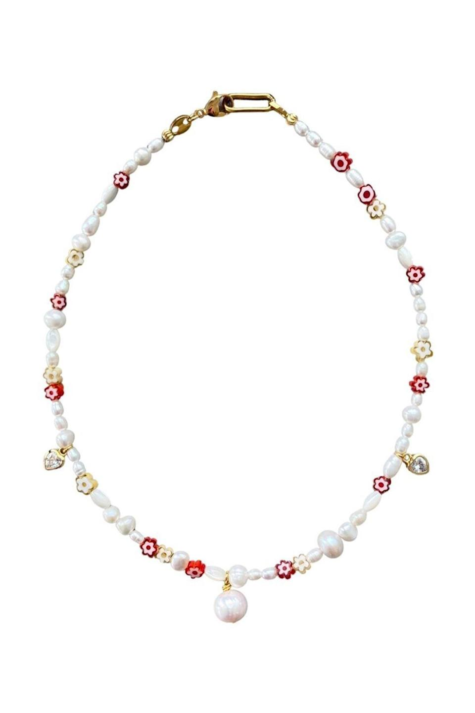 """<p><strong>Notte Jewelry</strong></p><p>nottejewelry.com</p><p><strong>$122.00</strong></p><p><a href=""""https://go.redirectingat.com?id=74968X1596630&url=https%3A%2F%2Fnottejewelry.com%2Fnecklaces%2Fboboli-pearly-necklace-copy&sref=https%3A%2F%2Fwww.townandcountrymag.com%2Fstyle%2Fjewelry-and-watches%2Fg36396130%2Fbest-beaded-necklaces%2F"""" rel=""""nofollow noopener"""" target=""""_blank"""" data-ylk=""""slk:Shop Now"""" class=""""link rapid-noclick-resp"""">Shop Now</a></p><p>This handmade necklace by Notte Jewelry promises to bring some extra joy into your day to day, and it definitely delivers. </p>"""