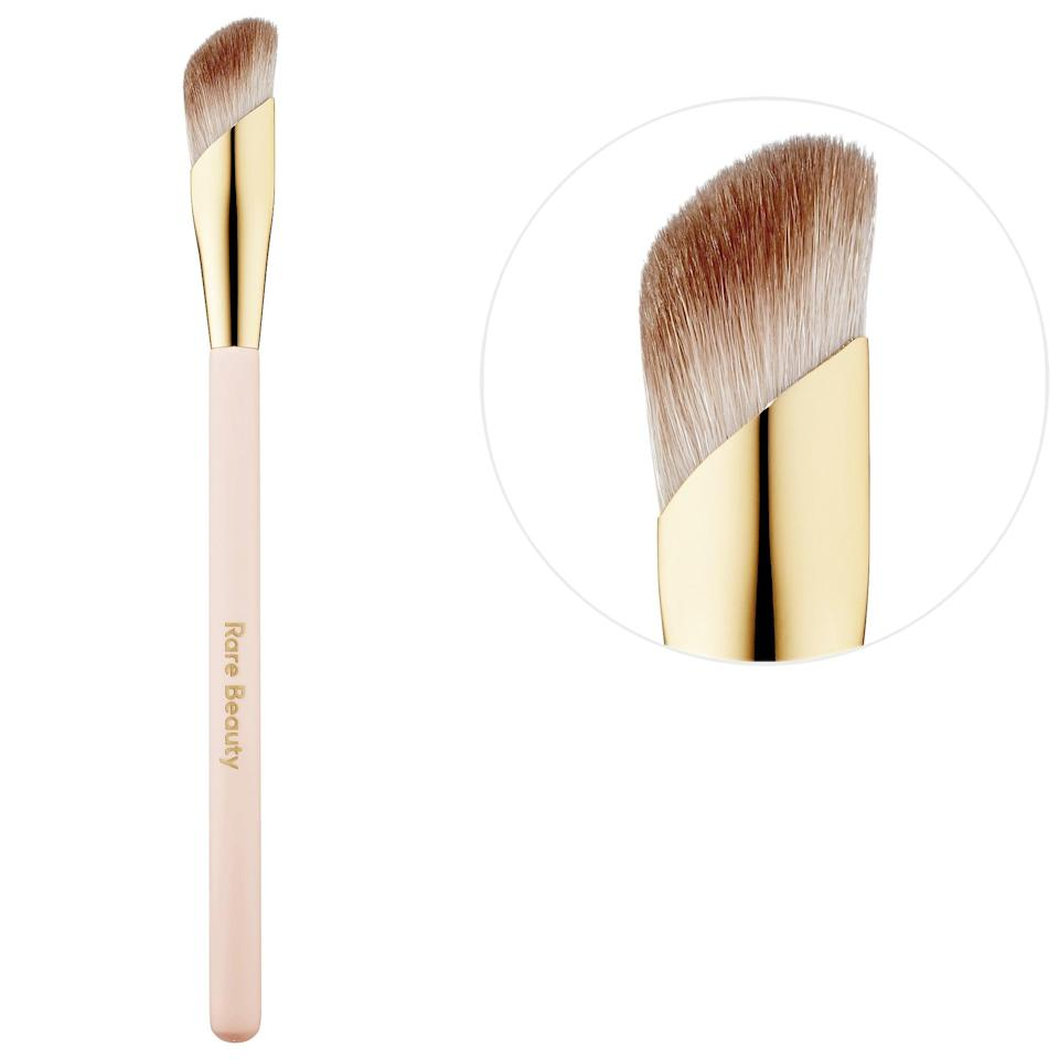 """<p>If you'd prefer not to get your hands dirty, there's also a <span>Rare Beauty by Selena Gomez Liquid Touch Concealer Brush</span> ($16) for a more diffused, <a href=""""https://www.popsugar.com/beauty/sanitary-makeup-swaps-47332077"""" class=""""link rapid-noclick-resp"""" rel=""""nofollow noopener"""" target=""""_blank"""" data-ylk=""""slk:sanitary application"""">sanitary application</a> instead.</p>"""
