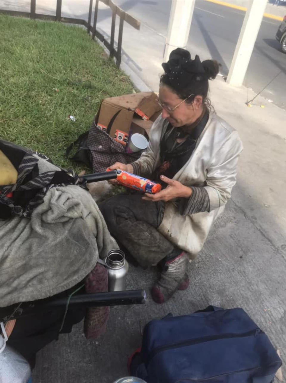 The homeless woman who claimed to be Jane McDonald-Crone. Source: Newsflash/Australscope