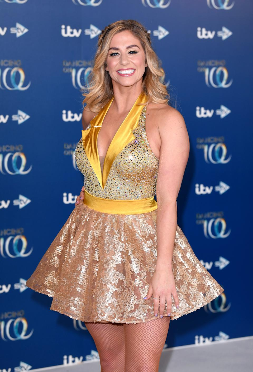 Alex Murphy attends the Dancing On Ice 2019 photocall at the Dancing On Ice Studio, ITV Studios, Old Bovingdon Airfield on December 09, 2019 in Bovingdon, England. (Photo by Karwai Tang/WireImage)
