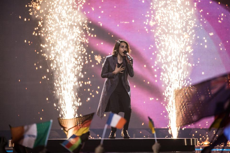 Isaiah Firebrace performed at the Eurovision Grand Final in 2017. (Photo: Brendan Hoffman via Getty Images)