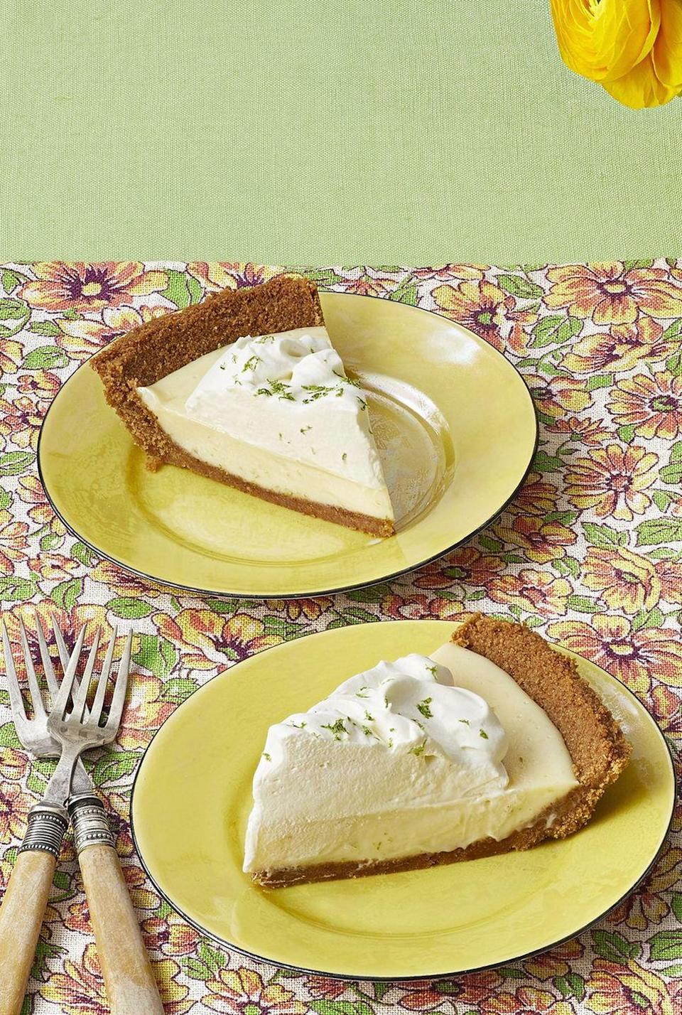 """<p>This make-ahead pie is best served chilled, so it's perfect for those hot days of summer. It's bright, creamy and packed with citrus-y flavor. </p><p><a href=""""https://www.thepioneerwoman.com/food-cooking/recipes/a32972780/classic-key-lime-pie-recipe/"""" rel=""""nofollow noopener"""" target=""""_blank"""" data-ylk=""""slk:Get Ree's recipe."""" class=""""link rapid-noclick-resp""""><strong>Get Ree's recipe. </strong></a></p><p><a class=""""link rapid-noclick-resp"""" href=""""https://go.redirectingat.com?id=74968X1596630&url=https%3A%2F%2Fwww.walmart.com%2Fsearch%2F%3Fquery%3Dfood%2Bprocessor&sref=https%3A%2F%2Fwww.thepioneerwoman.com%2Ffood-cooking%2Fmeals-menus%2Fg36558208%2Fsummer-pie-recipes%2F"""" rel=""""nofollow noopener"""" target=""""_blank"""" data-ylk=""""slk:SHOP FOOD PROCESSORS"""">SHOP FOOD PROCESSORS</a></p>"""