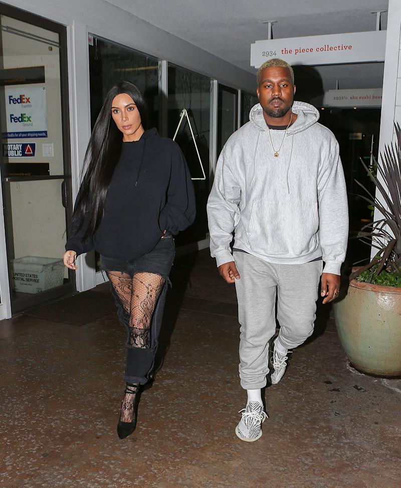 Kim Kardashian and Kanye West were recently spotted in Los Angeles. (Photo: X17Online.com)
