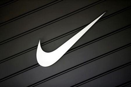 FILE PHOTO:  Nike (NKE)'s logo is seen in Los Angeles