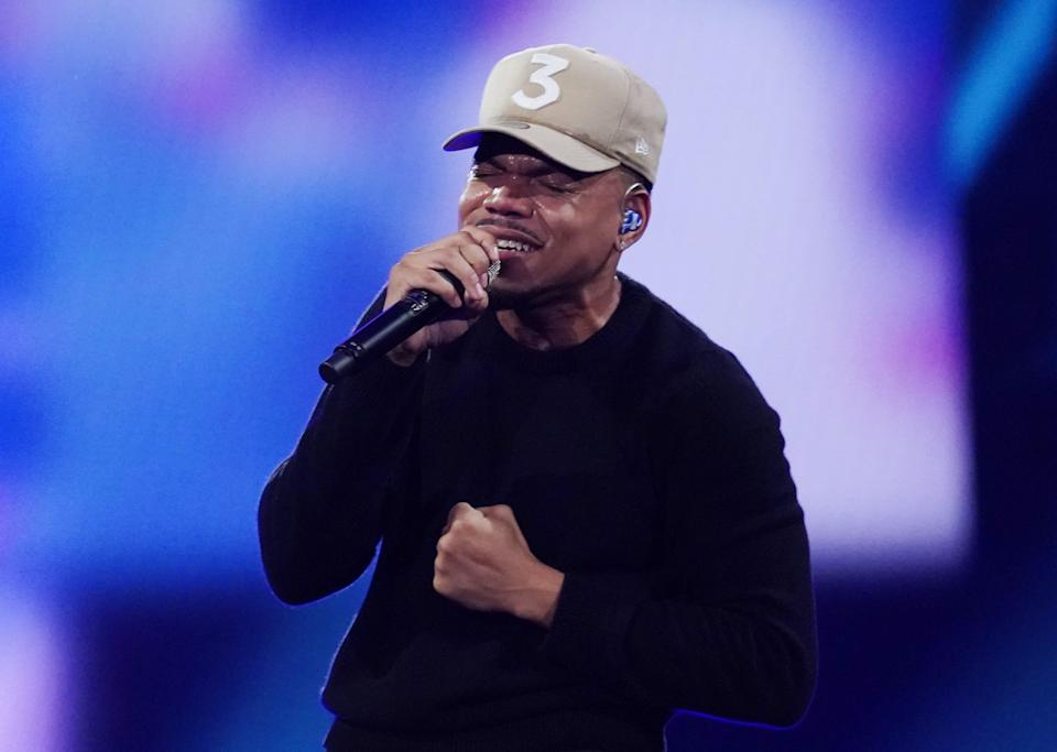 Chance the Rapper, seen here performing at the 2020 NBA All Star Game, is tapped to headline Summerfest 2021.