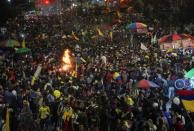 Protest against sexual assault by the police and the excess of public force, in Bogota