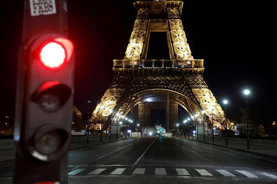 <p>Paris streets deserted amid Covid lockdown rules</p> (REUTERS)
