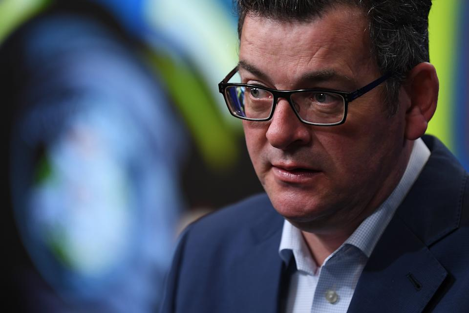 Victorian Premier Daniel Andrews addresses the media during a press conference in Melbourne. Source: AAP