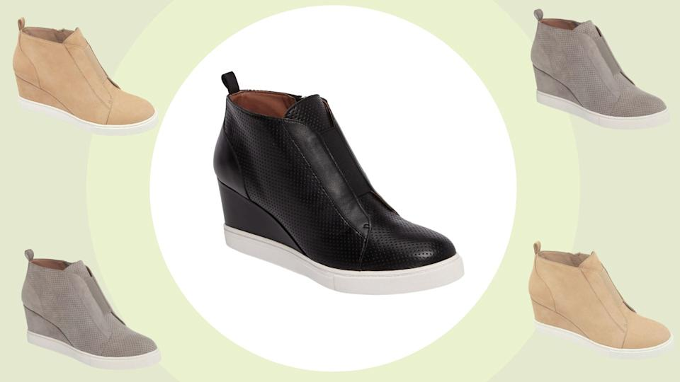 The 'Felicia' Wedge Sneaker by Linea Paolo is on sale for 60% off at Nordstrom.
