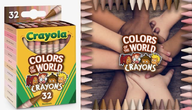 """Crayola has released """"Colors of the World"""" crayons to help represent skin colors across the globe. (Photo: Crayola)"""