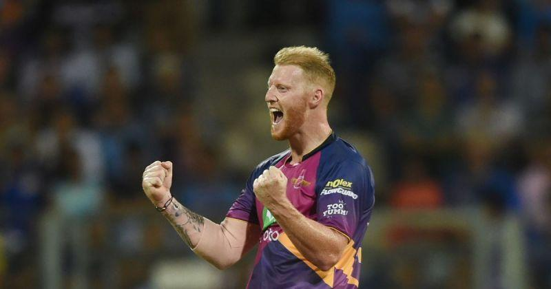 Ben Stokes celebrates after taking a wicket