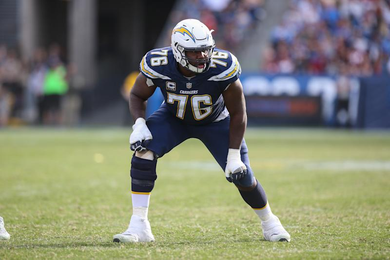 Russell Okung of the Los Angeles Chargers.
