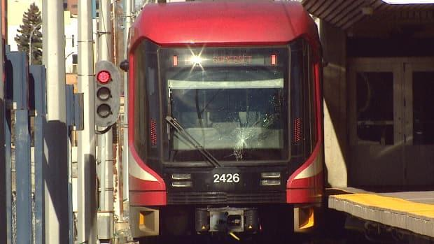 Calgary police warn the public to be cautious around CTrain platforms and tracks after a man was struck by a train early Saturday morning. (Mike Symington/CBC - image credit)