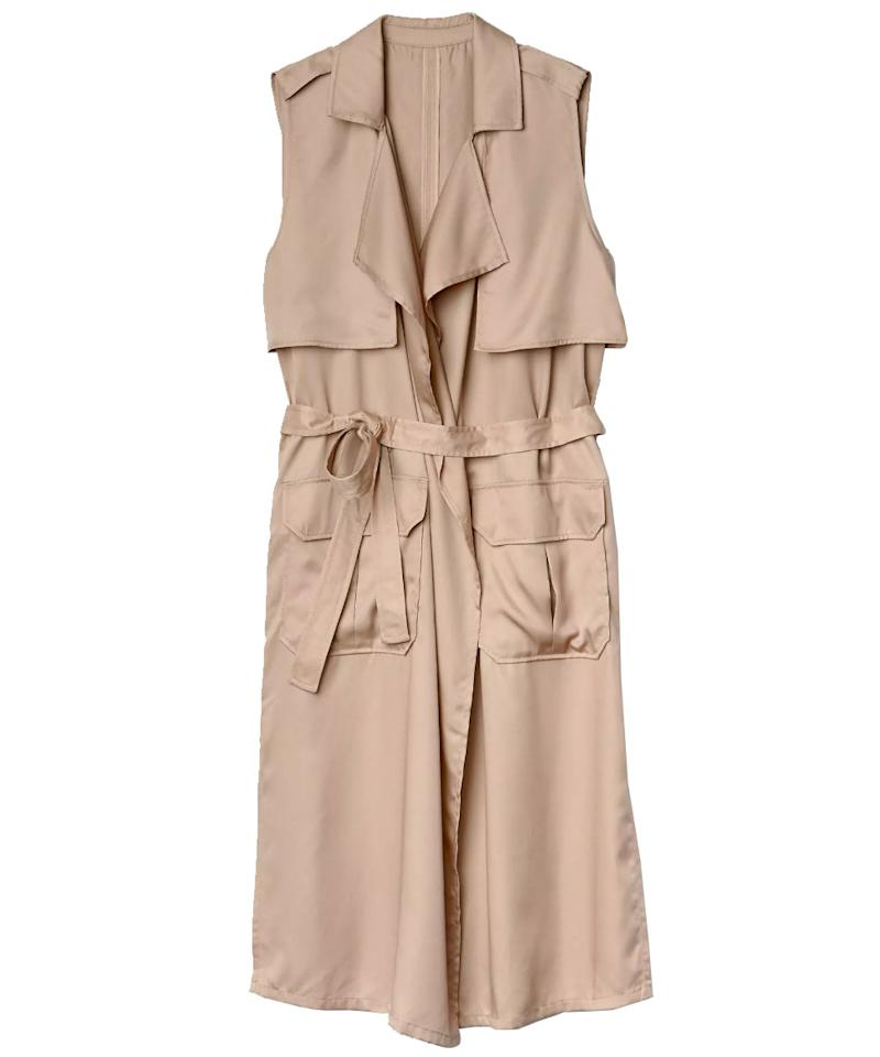 """<p>Consider this the ultimate transitional piece--throw this sleeveless layer on now over a cozy sweater, then wear it when the weather warms up over a breezy, printed sundress.</p>  <p><strong>To buy:</strong> $74, <a rel=""""nofollow"""" href=""""http://www.anrdoezrs.net/links/7799179/type/dlg/sid/SYNinstyleRCspringtrenchcoats/http://www.gap.com/browse/product.do?vid=1&pid=639509012&tid=goaff7876406&ap=2&siteID=goafcid11553180&cvosrc=affiliate.cj.7876406"""">gap.com</a>.</p>"""