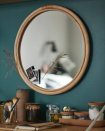 """<p>Ensure you don't leave the house with your shirt inside out or a button undone by installing a mirror by your front door. This rattan one will warm up your entryway, making it more inviting for all who enter.</p><p><a class=""""link rapid-noclick-resp"""" href=""""https://go.redirectingat.com?id=74968X1596630&url=https%3A%2F%2Fwww.ikea.com%2Fus%2Fen%2Fp%2Fhindas-mirror-rattan-00501785%2F&sref=https%3A%2F%2Fwww.countryliving.com%2Fhome-maintenance%2Fg37186772%2Fentryway-ikea-hacks%2F"""" rel=""""nofollow noopener"""" target=""""_blank"""" data-ylk=""""slk:BUY NOW"""">BUY NOW</a> <strong><em>Rattan Mirror, $30</em></strong></p>"""