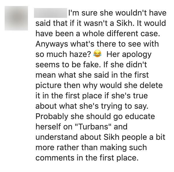 Instagram comments criticizing Sheena Phua's post.