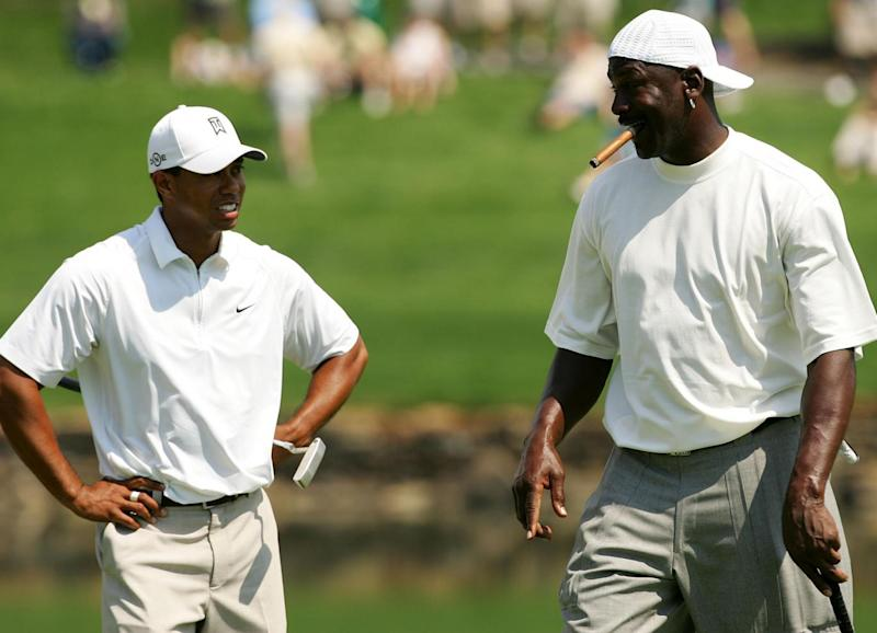 Tiger Woods (L) and Michael Jordan (Getty)