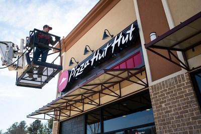 Pizza Hut is getting into gear for Super Bowl LIII, its biggest pizza day of the year, by transforming into Pizza Hut Hut at a local restaurant in Atlanta and across its website and social channels.