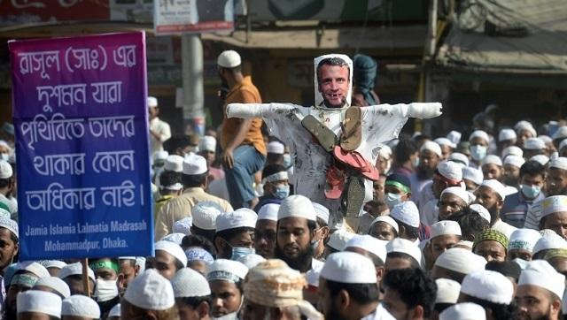 Even in India, where the Hindu nationalist government has strongly backed Macron, leaders of the country's minority Muslim community have called for a boycott of French goods. AFP