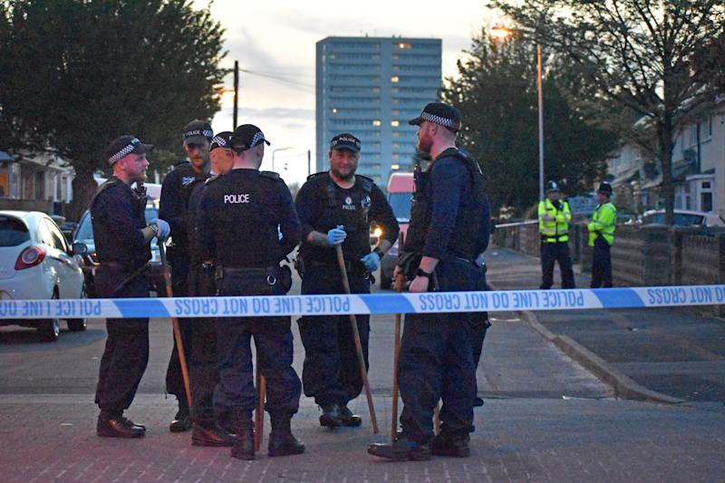 The boy is thought to have been inside the house when the shots were fired and sustained non life-threatening injuries to his back and hand. (Picture: Matthew Cooper/PA Wire)
