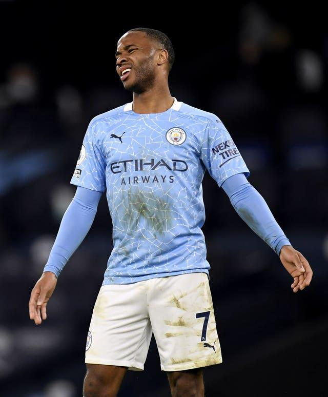 Raheem Sterling was not involved in City's win at Fulham