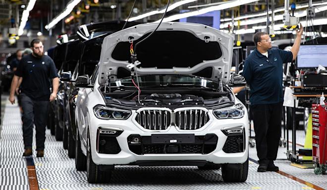 BMW's manufacturing plant in South Carolina where it produces the X3 and X6 SUVs among other models. Photo: Handout