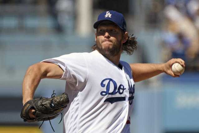 Los Angeles Dodgers pitcher Clayton Kershaw can opt-out of his deal at the end of the season. (AP)