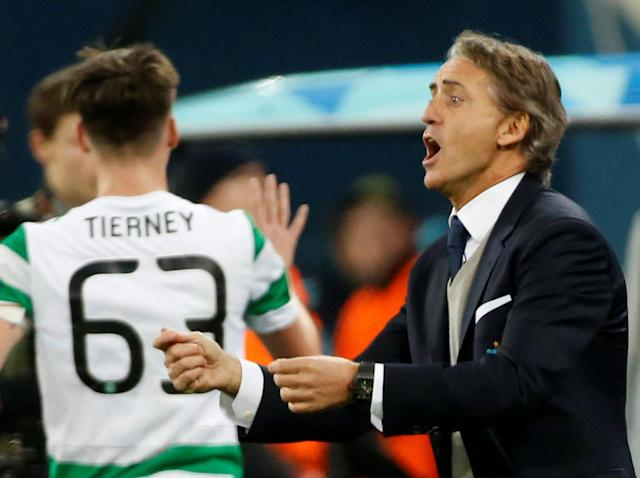Soccer Football - Europa League Round of 32 Second Leg - Zenit Saint Petersburg vs Celtic - Stadium St. Petersburg, Saint Petersburg, Russia - February 22, 2018 Zenit St. Petersburg coach Roberto Mancini REUTERS/Maxim Shemetov