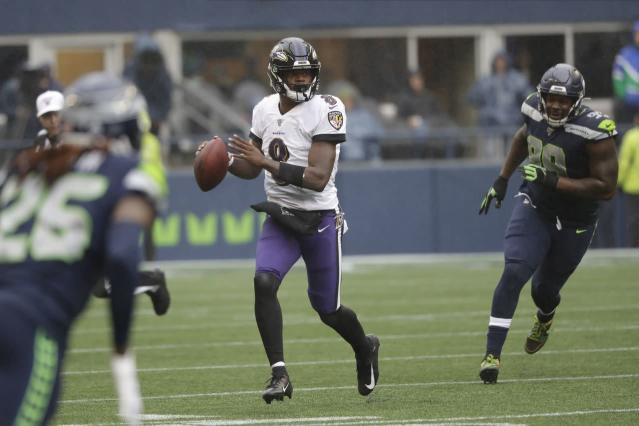 Seattle Seahawks praise Lamar Jackson after he guides the Baltimore Ravens to a win